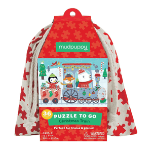 Christmas Train Puzzle To Go Puzzles to go Mudpuppy