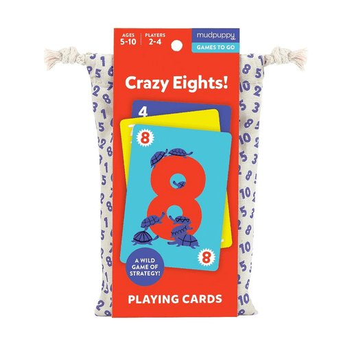 Crazy Eights! Playing Cards to Go Playing Cards Mudpuppy