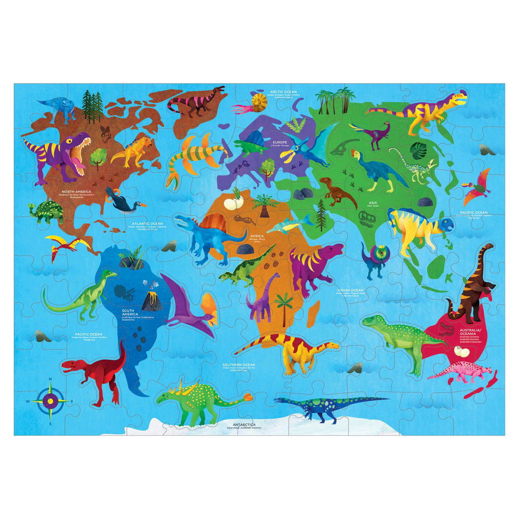 Dinosaur World Geography Puzzle Geography Puzzles Mudpuppy