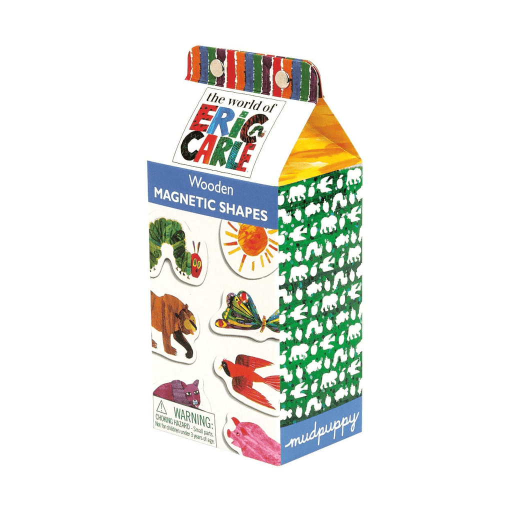 Eric Carle Shapes Wooden Magnetic Shapes Set Wooden Magnetic Sets Mudpuppy