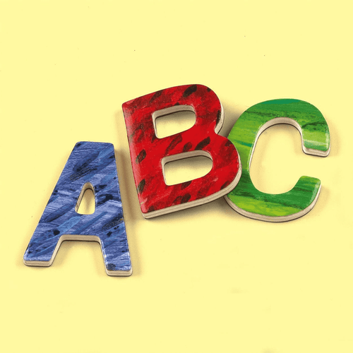 Eric Carle Uppercase Letters Wooden Magnetic Set Wooden Magnetic Sets Mudpuppy
