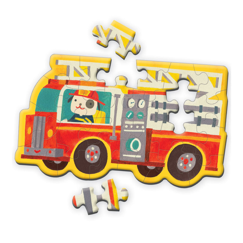 Firetruck Shaped Mini Puzzle Shaped Mini Puzzles Mudpuppy