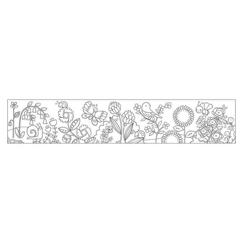 Flower Garden Mini Coloring Roll Coloring Rolls Mudpuppy