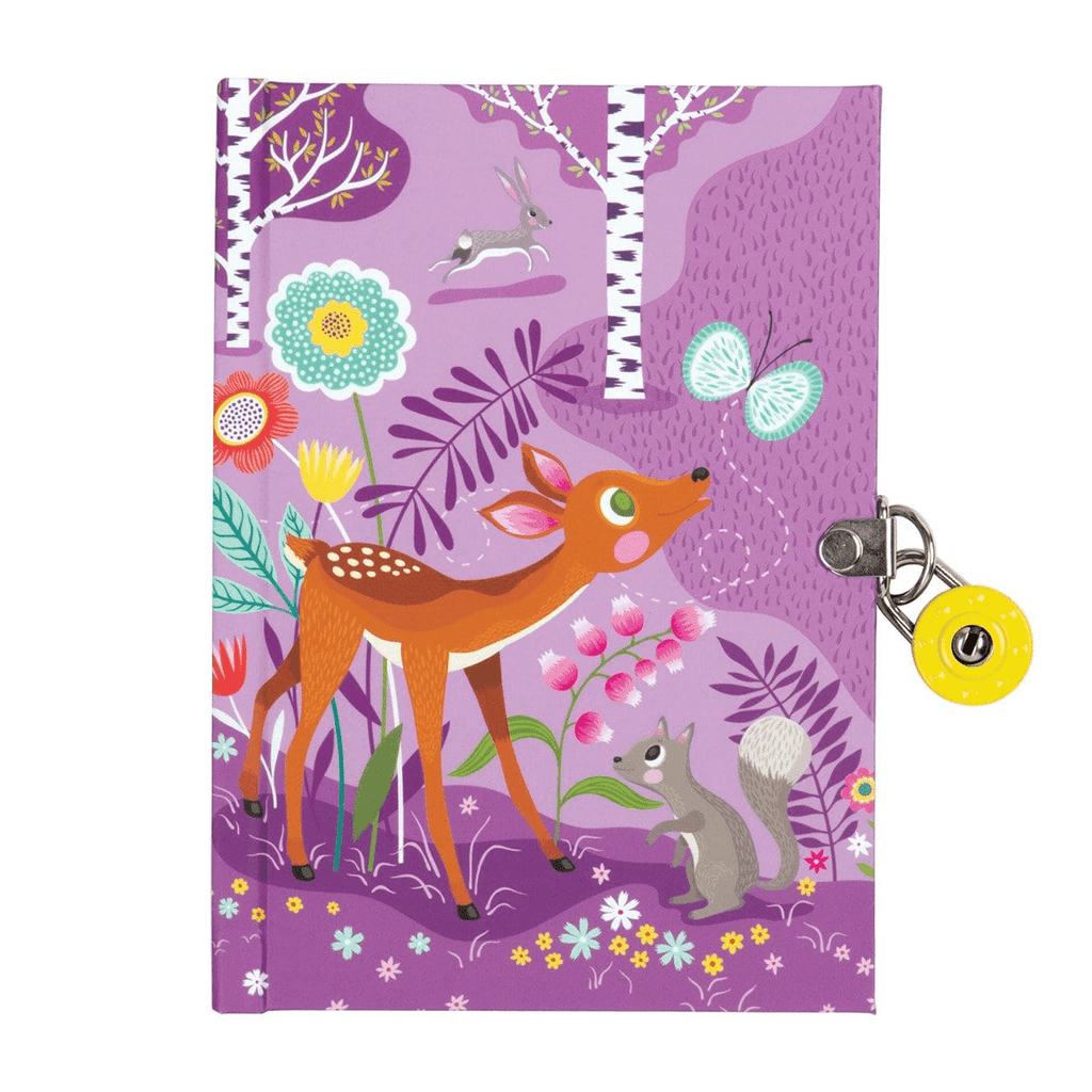 Forest Friends Locked Diary Locked Diaries Mudpuppy