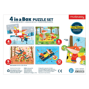 Four Seasons 4-In-a-Box Progressive Puzzle 4-In-a-Box Progressive Puzzles Mudpuppy