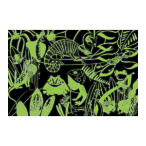 Frogs & Lizards Glow in the Dark Puzzle Glow in the Dark Puzzles Mudpuppy