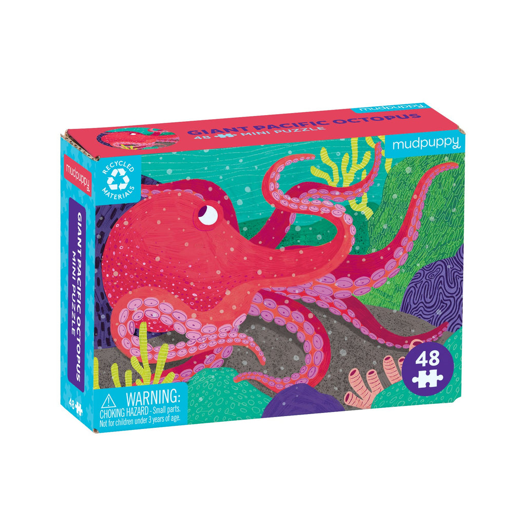 Giant Pacific Octopus Mini Puzzle Mini Puzzles Mudpuppy