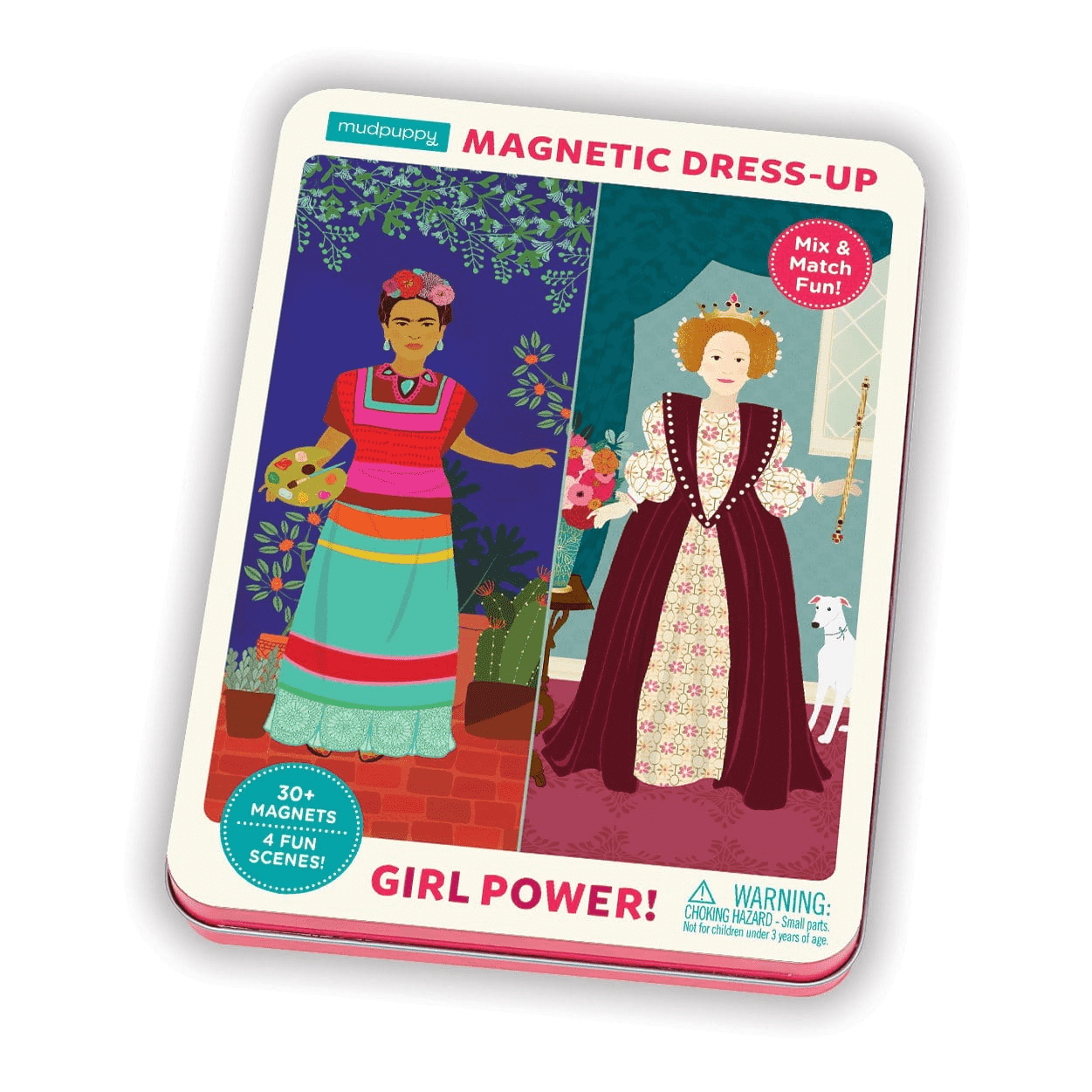 Girl Power! Magnetic Dress-up Magnetic Tin Playsets Mudpuppy