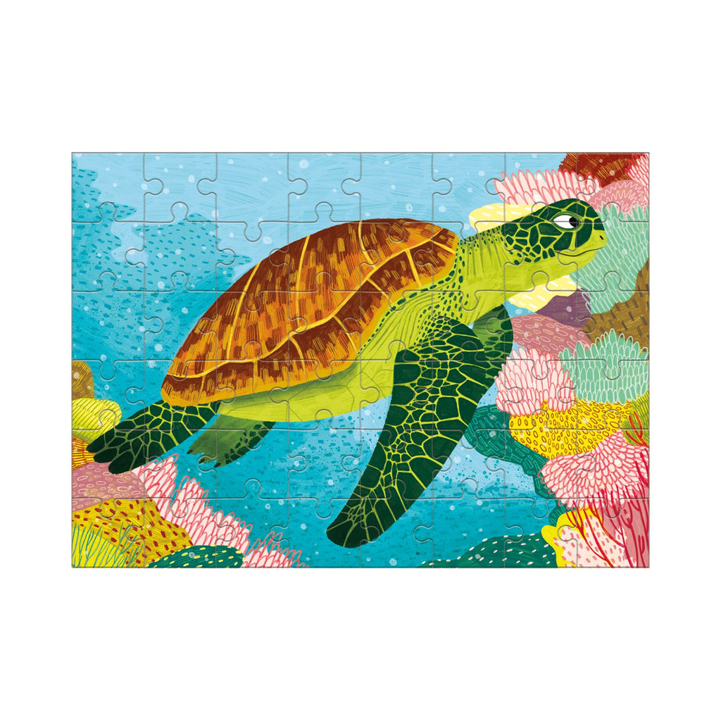 Green Sea Turtle Mini Puzzle Mini Puzzles Mudpuppy