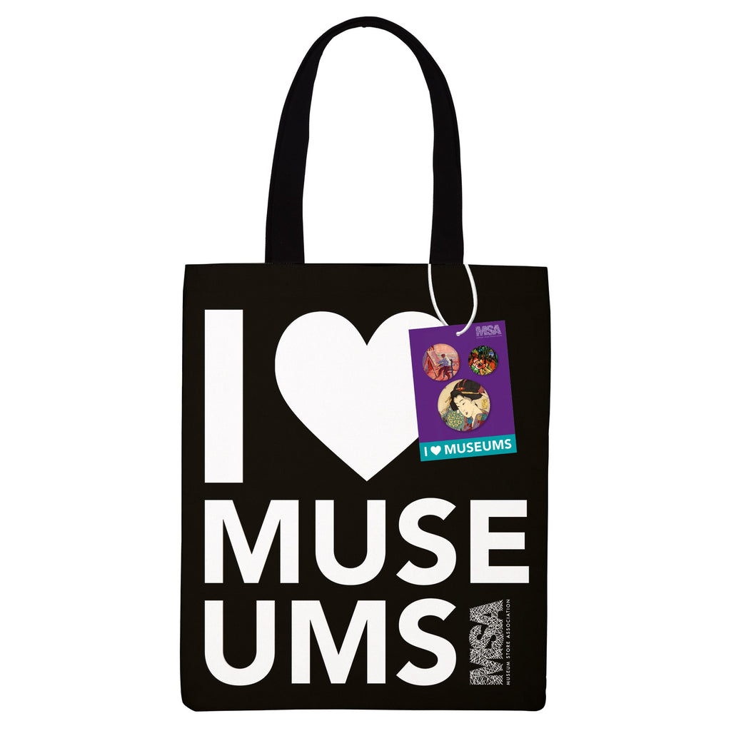 I Heart Museums Tote Bag Tote Bags Mudpuppy