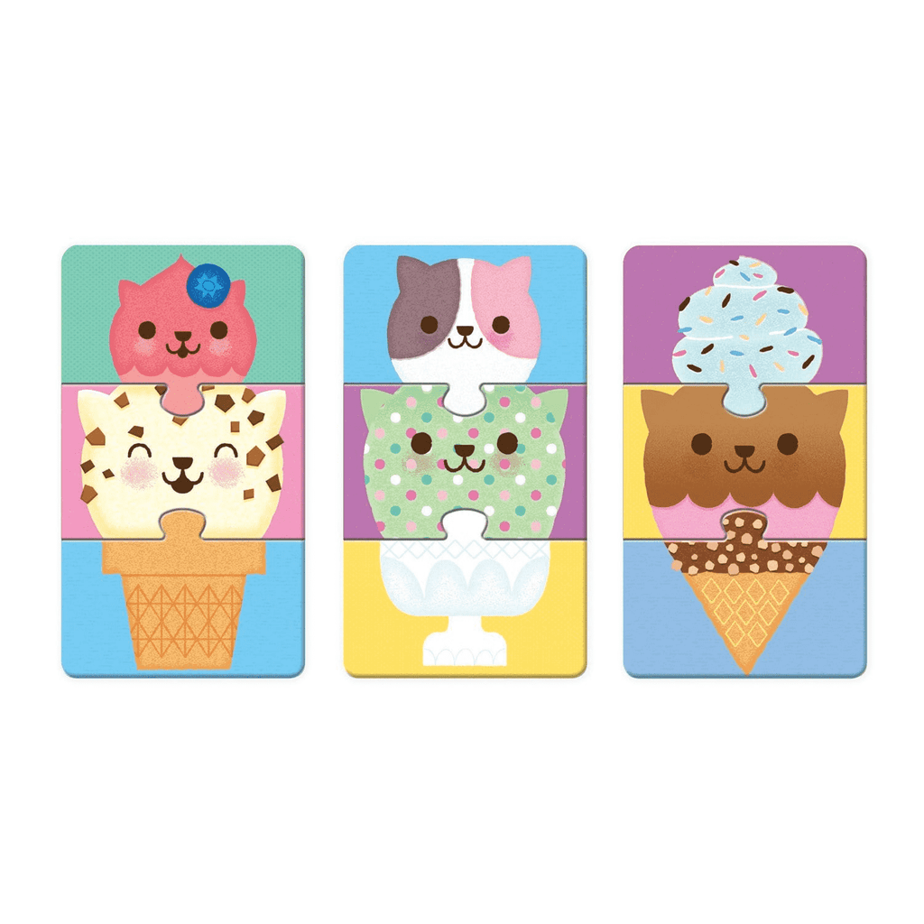 Ice Cream Cats Mix & Match Puzzle To Go Mix and Match Puzzles to Go Mudpuppy