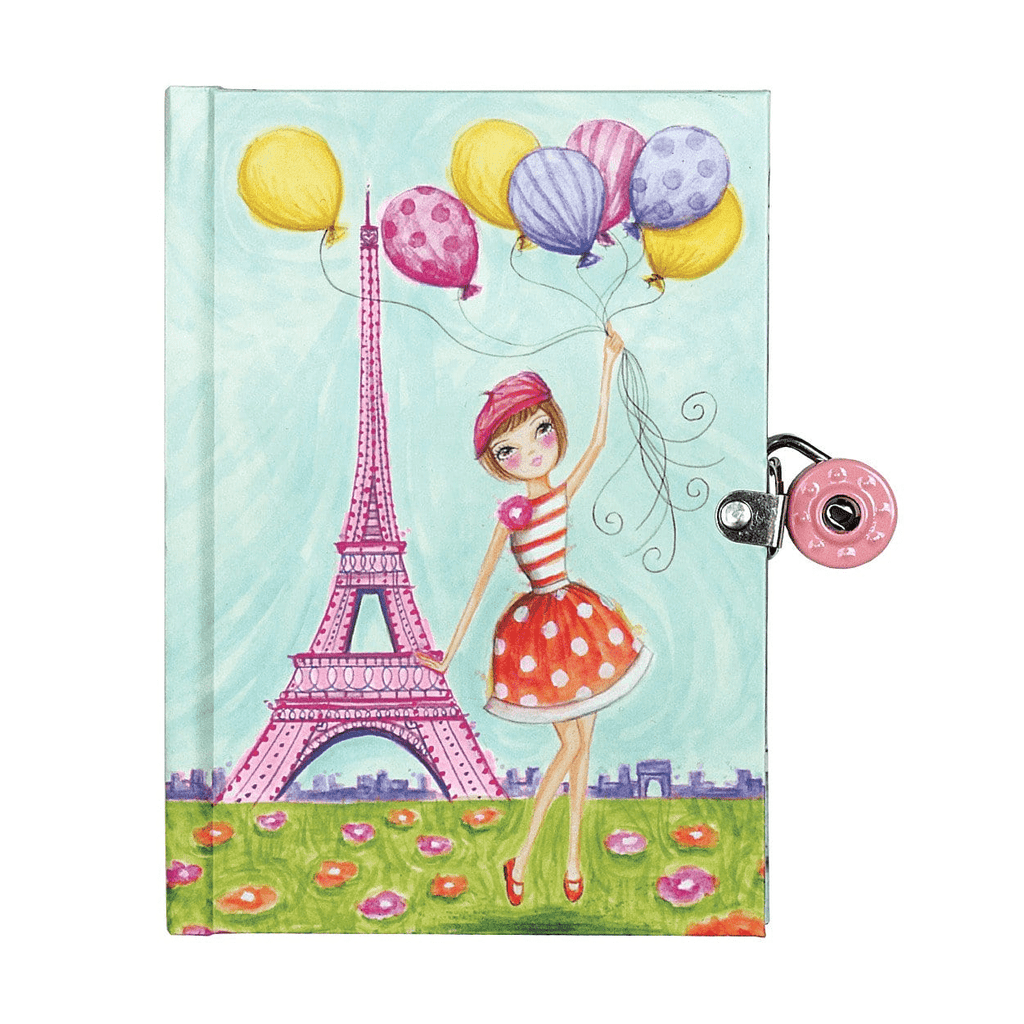 J'Adore Paris! Locked Diary Locked Diaries Mudpuppy