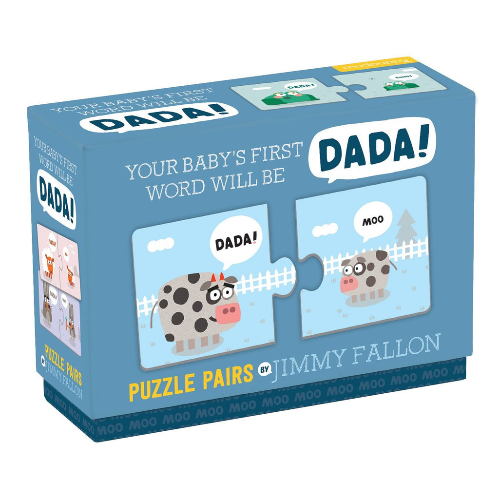 Jimmy Fallon Your Baby's First Word Will Be Dada Puzzle Pairs My First Puzzle Pairs Mudpuppy