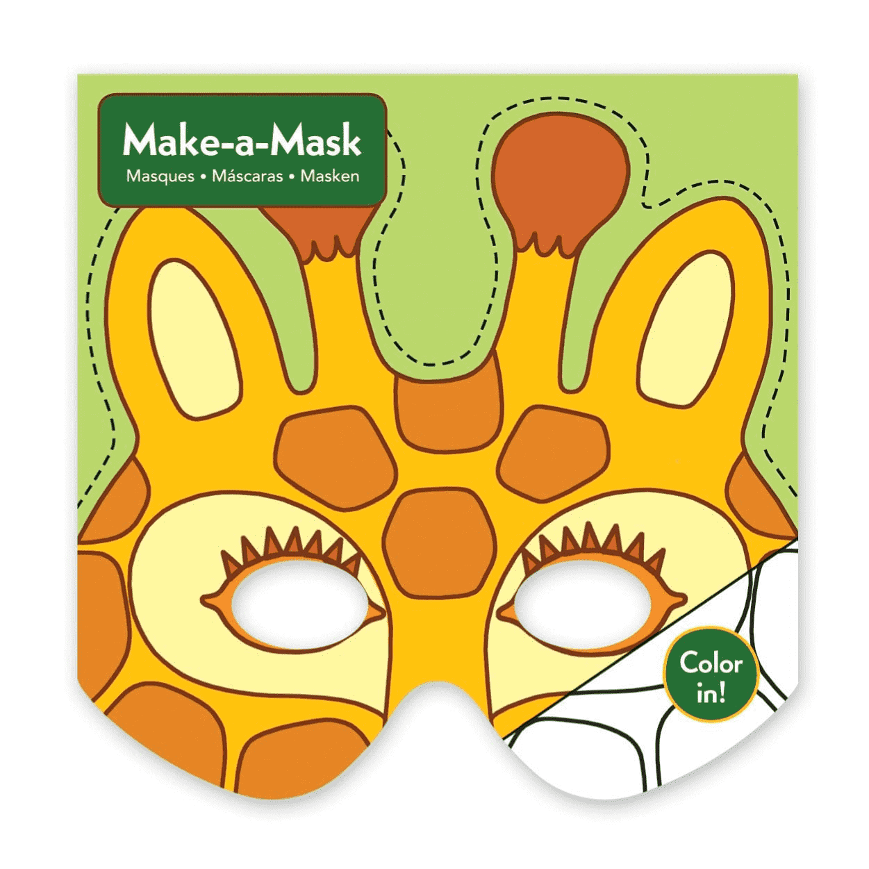 Jungle Animals Make-a-Mask Make a Masks Mudpuppy