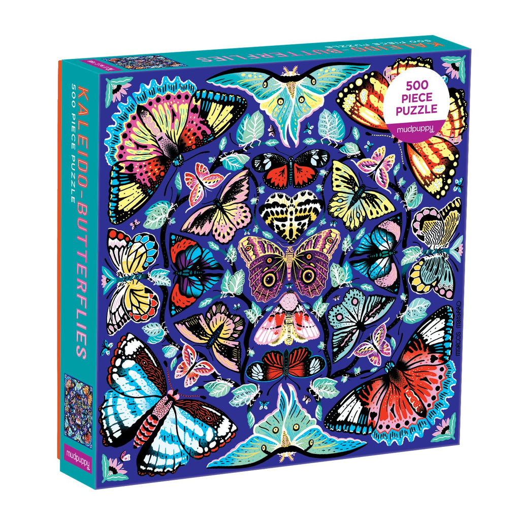 Kaleido-Butterflies 500 Piece Family Puzzle Family Puzzles Mudpuppy
