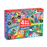 Kindness 4-in-a-Box Puzzle Set 4-In-a-Box Progressive Puzzles Mudpuppy