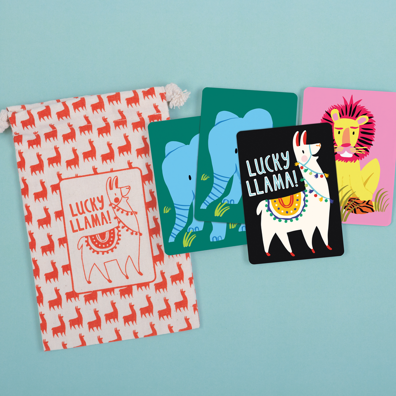 Lucky Llama Playing Cards To Go Playing Cards Mudpuppy
