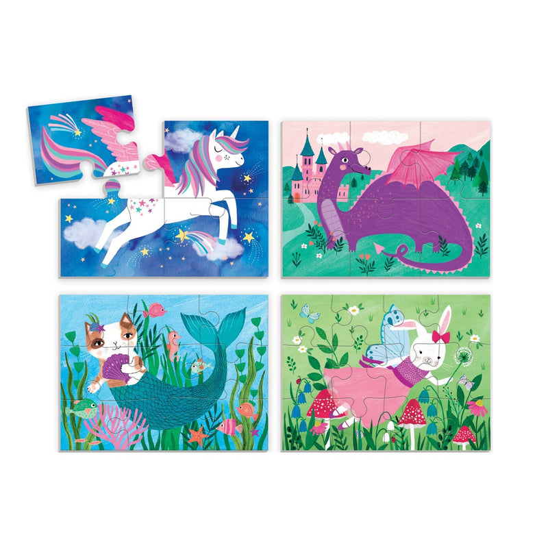 Magical Friends 4-In-a-Box Progressive Puzzle 4-In-a-Box Progressive Puzzles Mudpuppy