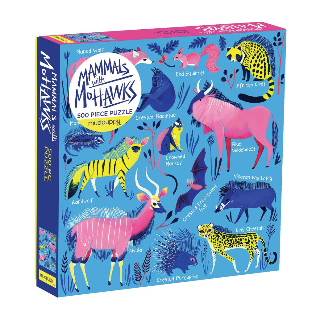 Mammals with Mohawks 500pc Family Puzzle Family Puzzles Mudpuppy