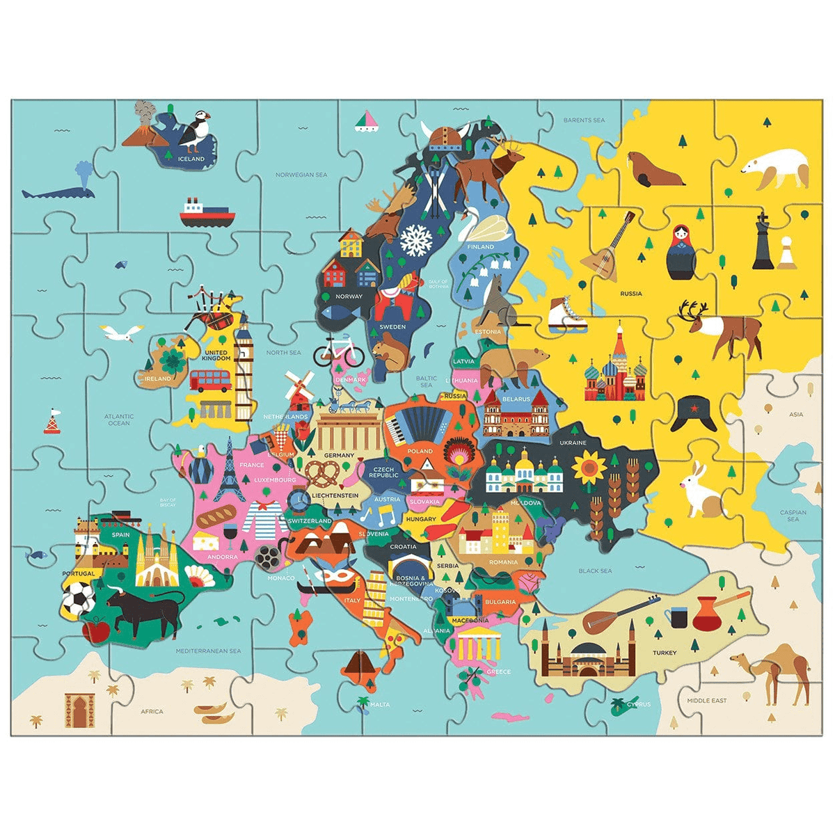 Map Of Europe Geography Puzzle
