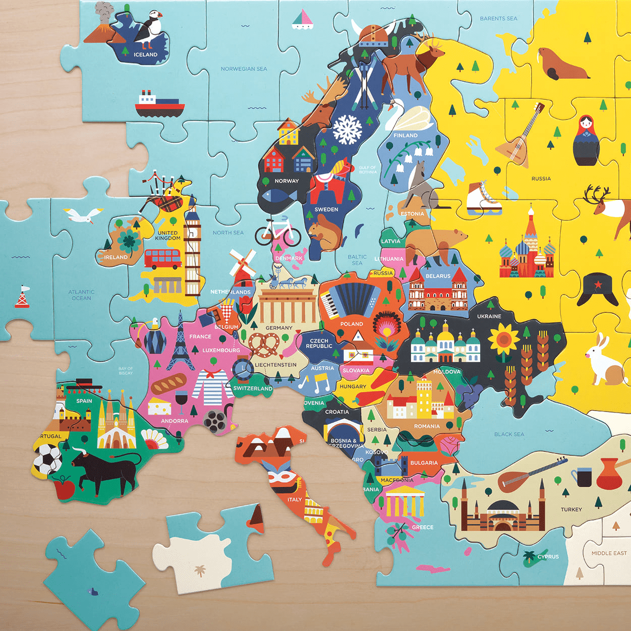 Map Of Europe Geography Puzzle | Geography Puzzles ...