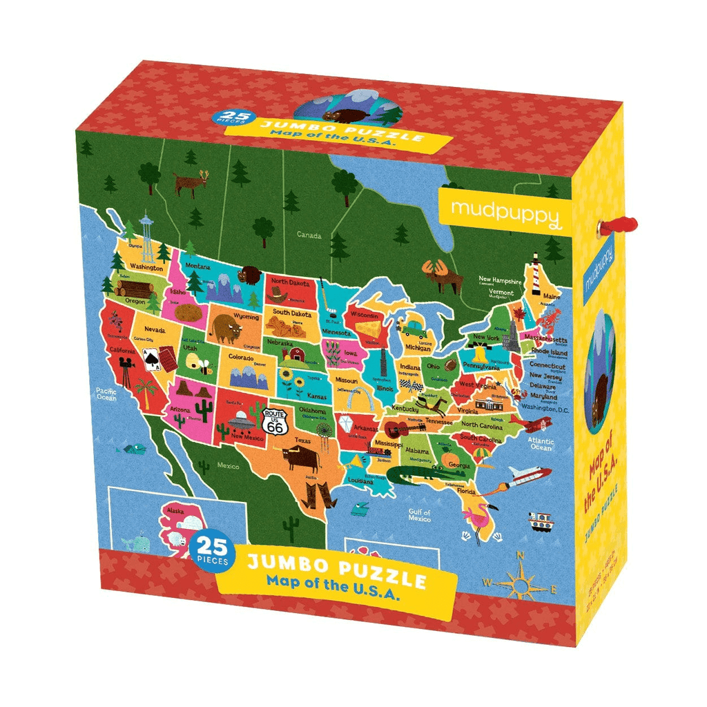 Map of the U.S.A. Jumbo Puzzle Jumbo Puzzles Mudpuppy