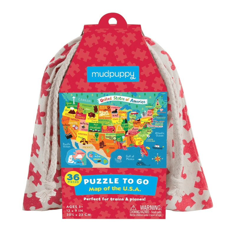 Map Of U.S.A. Puzzle To Go Puzzles to go Mudpuppy
