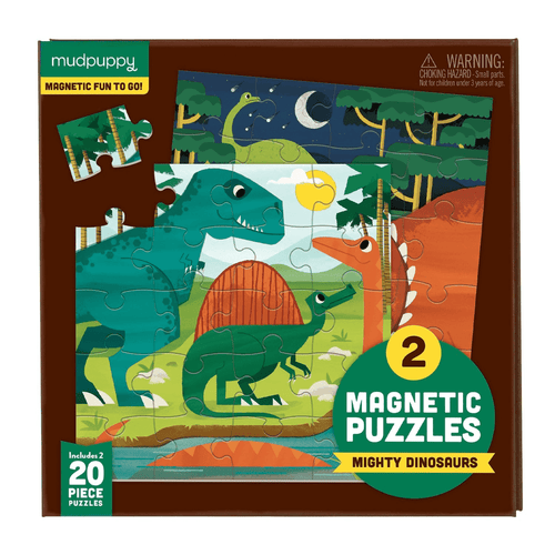 Mighty Dinosaurs Magnetic Puzzle Magnetic Puzzles Mudpuppy
