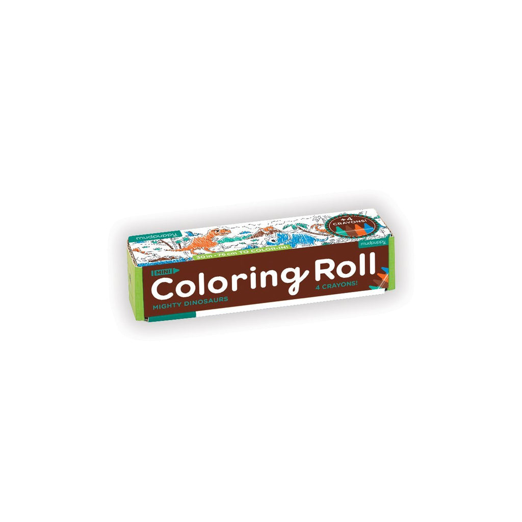 Mighty Dinosaurs Mini Coloring Roll Coloring Rolls Mudpuppy