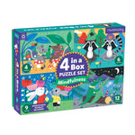 Mindful 4-in-a-Box Puzzle Set 4-In-a-Box Progressive Puzzles Mudpuppy
