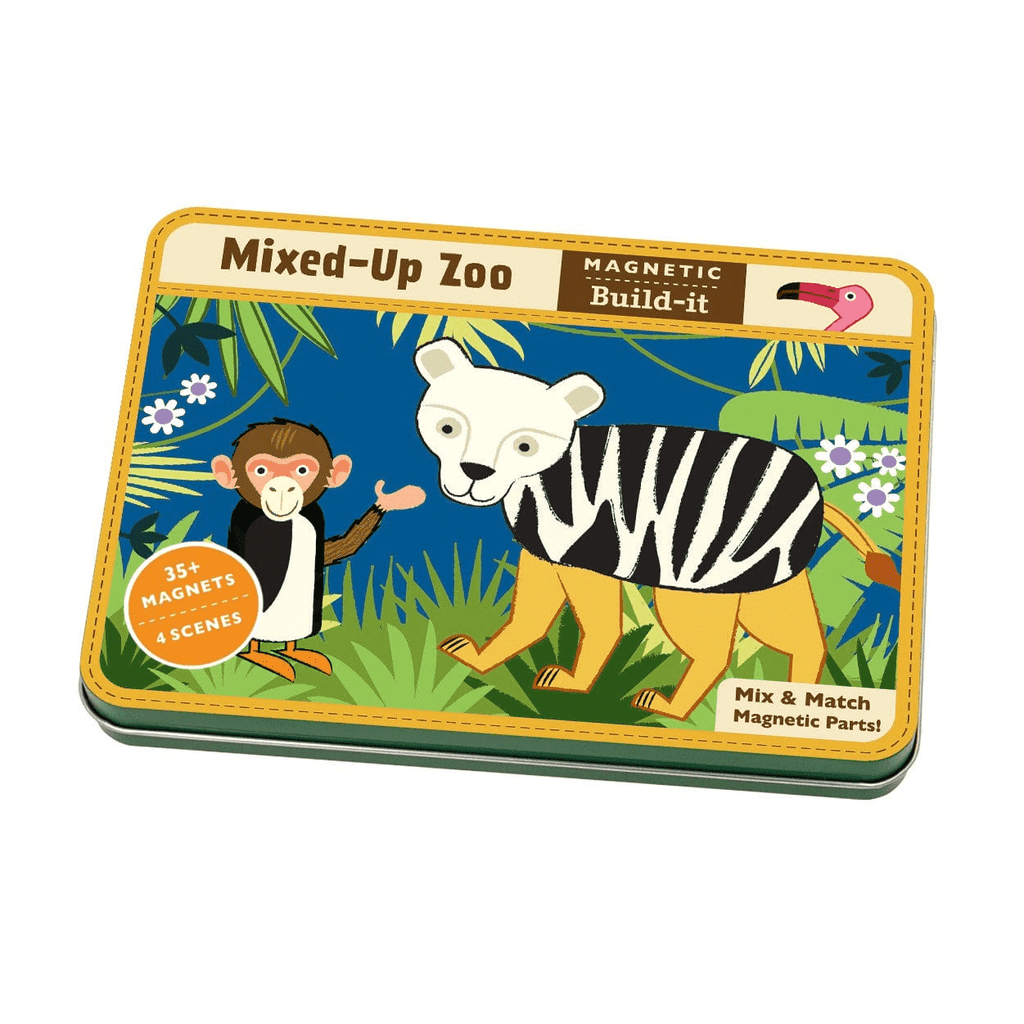 Mixed-Up Zoo Magnetic Build-It Magnetic Tin Playsets Mudpuppy