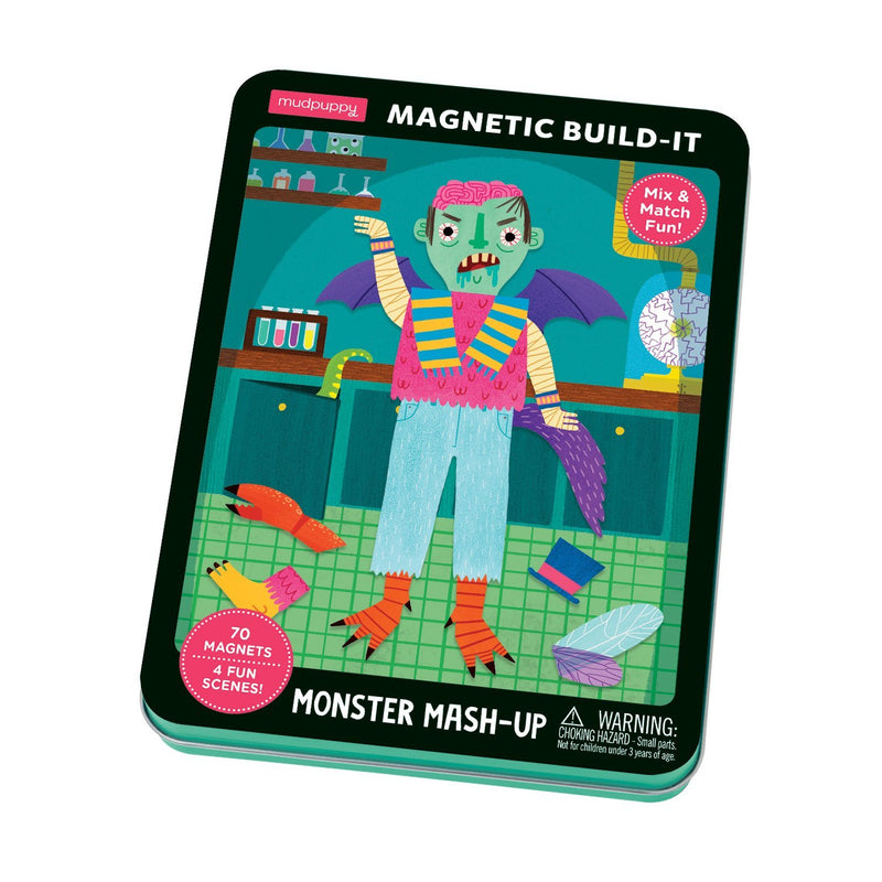Monster Mash-Up Magnetic Build-It Magnetic Tin Playsets Mudpuppy