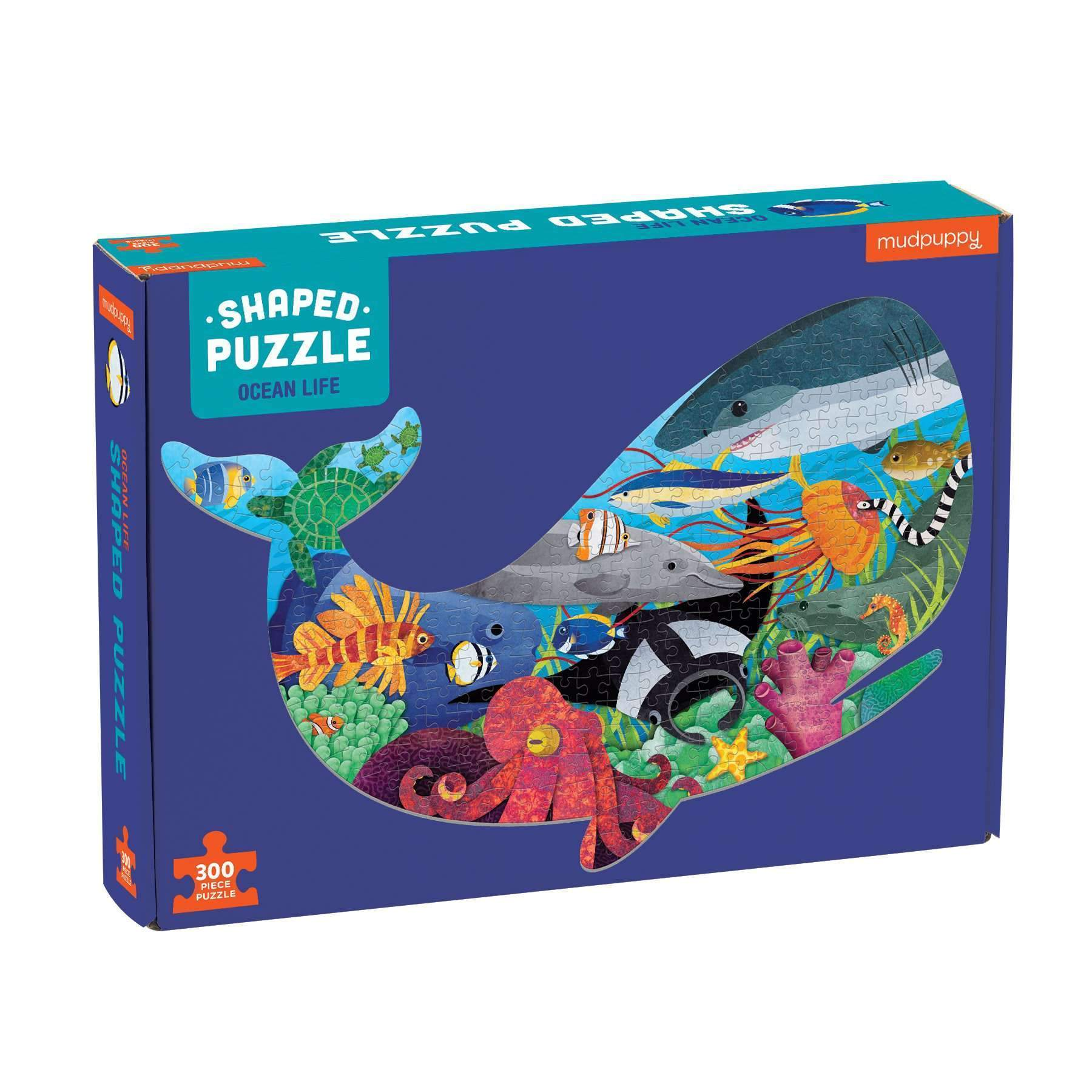 Ocean Life 300 Piece Shaped Scene Puzzle 300 piece shaped scene puzzles Mudpuppy
