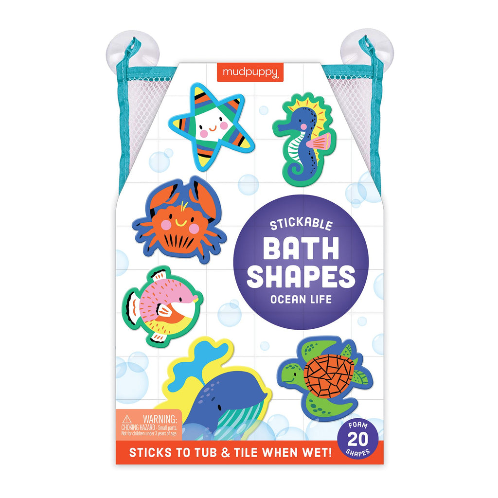 Ocean Life Stickable Foam Bath Shapes Foam Bath Shapes Mudpuppy