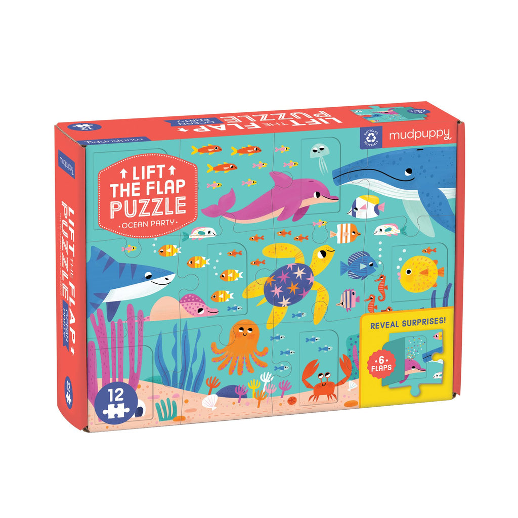 Ocean Party Lift-the-Flap Puzzle Lift-the-Flap Puzzles Mudpuppy