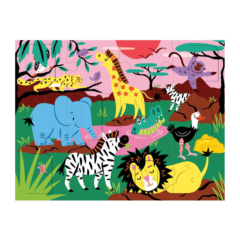 On Safari Lift-the-Flap Puzzle Lift-the-Flap Puzzles Mudpuppy