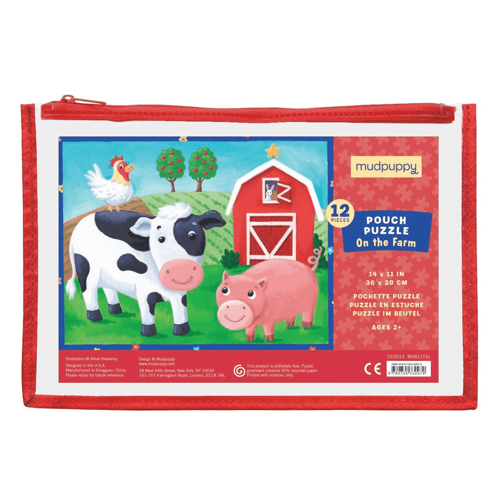 On The Farm Pouch Puzzle Pouch Puzzles Mudpuppy
