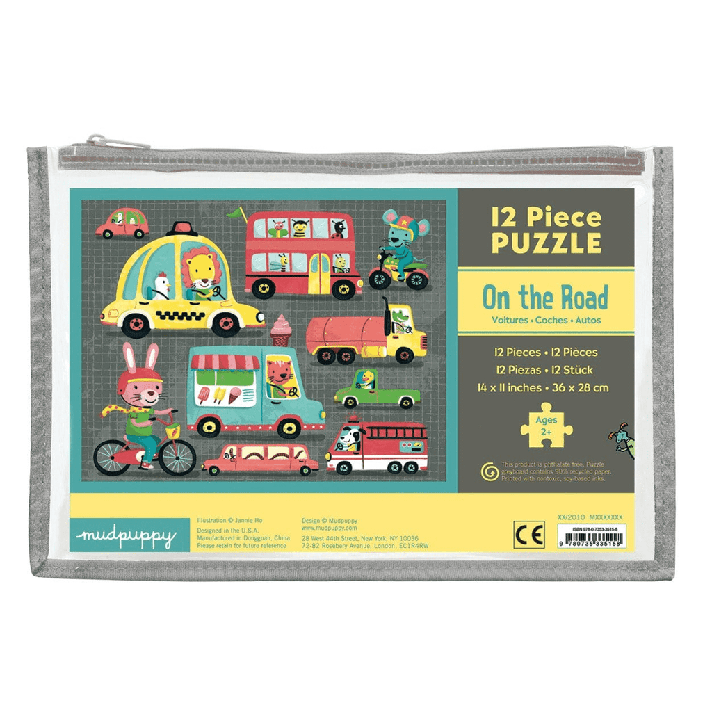 On the Road Pouch Puzzle Pouch Puzzles Mudpuppy