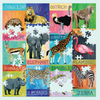 Painted Safari 500 Piece Family Puzzle 500 Piece Family Puzzles Mudpuppy
