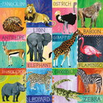 Painted Safari 500 Piece Family Puzzle Family Puzzles Mudpuppy