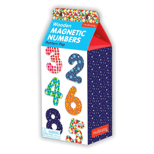 Pattern Pop Wooden Magnetic Numbers Wooden Magnetic Sets Mudpuppy