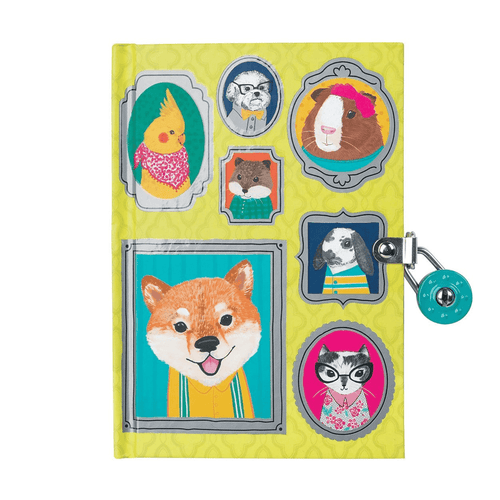 Pet Portraits Locked Diary Locked Diaries Mudpuppy