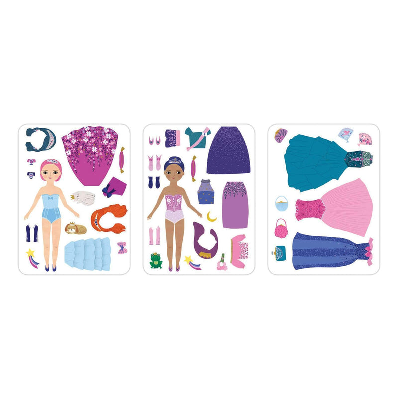 Princess Magic Magnetic Dress-up Magnetic Tin Playsets Mudpuppy
