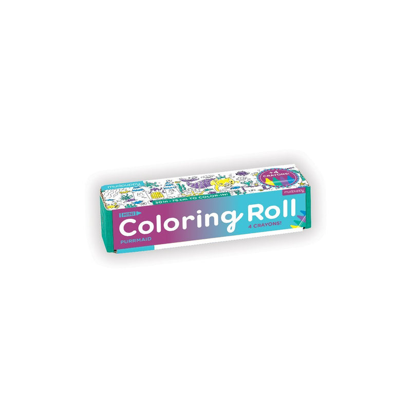 Purrmaid Mini Coloring Roll Coloring Rolls Mudpuppy