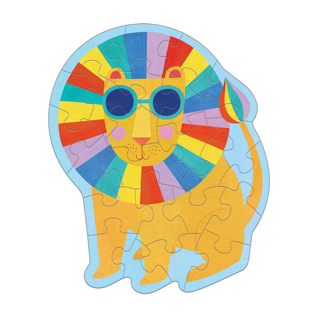Rainbow Lion Shaped Mini Puzzle Shaped Mini Puzzles Mudpuppy
