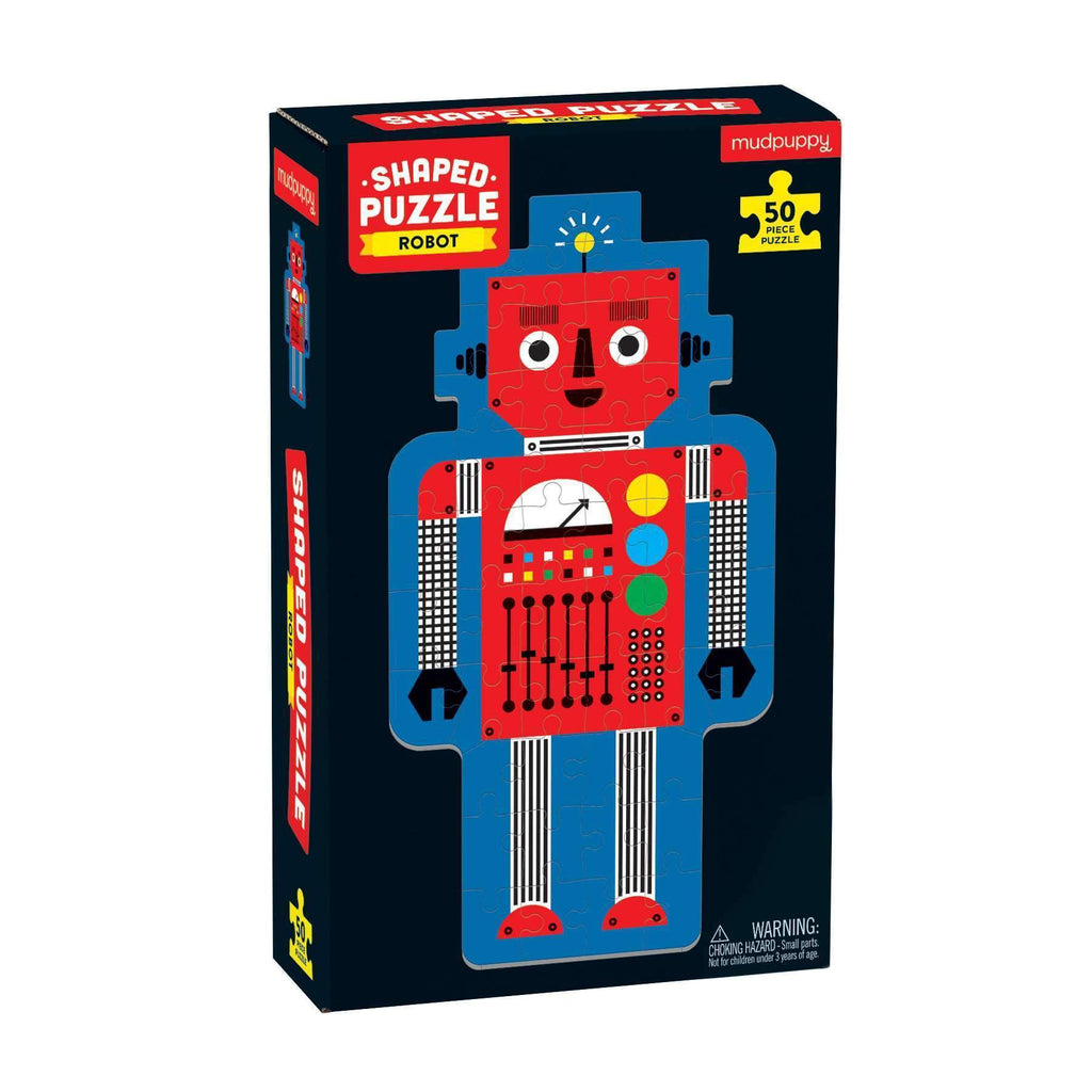 Robot 50 Piece Shaped Character Puzzle 50 Piece Shaped Character Puzzles Mudpuppy