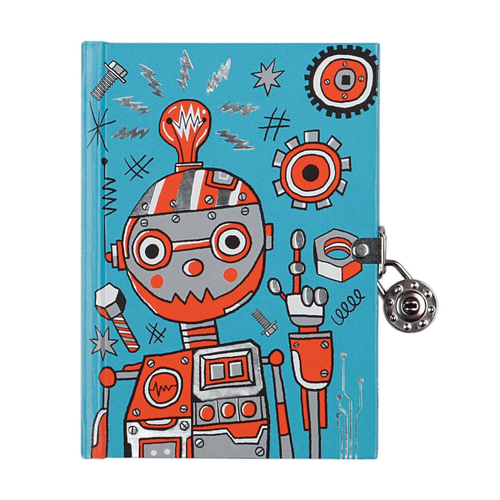 Robot Locked Diary Locked Diaries Mudpuppy