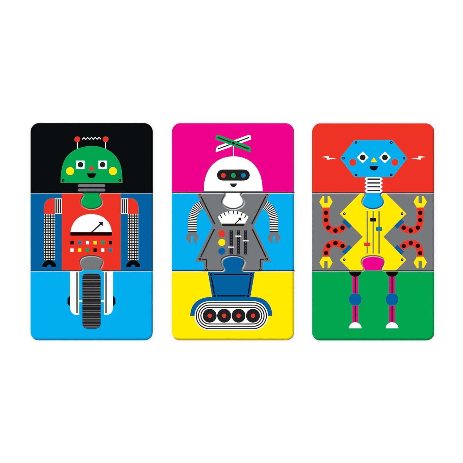 Robotics Lab Mix & Match Puzzle To Go Mix and Match Puzzles to Go Mudpuppy