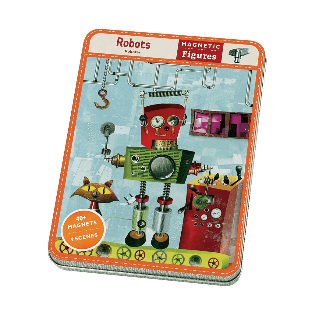 Robots Magnetic Figures Magnetic Tin Playsets Mudpuppy