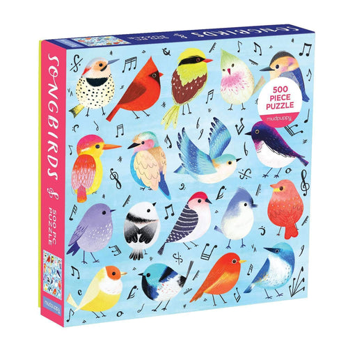 Songbirds 500 Piece Family Puzzle Family Puzzles Mudpuppy